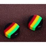 Par Brinco Preto De Pressão Magnético Imã Reggae 10mm 1cm