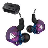 Qkz Ak6 Con Micro + Estuche Audifonos Auriculares Purpura