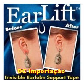 Ear Lift Para Brinco Orelha Rasgada 60 Adesivo Sustentação