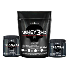 Kit Whey Protein Black Skull + Bcaa + Creatina