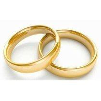 Par Alianzas Casamiento Compromiso Italianas Oro 18 Kt
