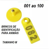Brinco De Identificação P/ Bovinos,ovinos,suinos- 100brincos