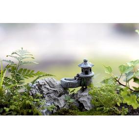 1 Casa Torre Terrários Mini Jardim Fadas Miniaturas Maquete