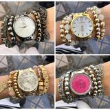 Lote C/10 Relógios Feminino+pulseiras Exclusivo Atacado Kit
