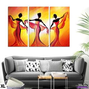 Cuadros Decorativos Modernos- Tripticos Africanas 100x70cm