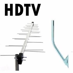 Kit Antena Externa Digital 28 Elementos+mastro -vhf Uhf Hdtv