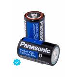 Pila D Panasonic X2 Unidades Carbon 1,5v Super Hyper