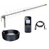 Kit Antena Rural 15dbi, Cabo Descida Rgc213 15mt Cel Lg B220
