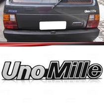 Emblema Tampa Porta Malas Fiat Uno Mille 91 92 93 Prata