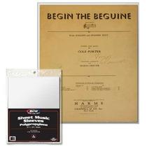 10 Envelopes Protetores Para Partituras Musicais - Bcw