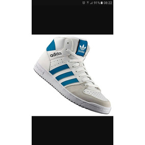 zapatillas adidas botitas hombre blancas
