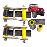 Kit 2 Jumelo Alto + 2 Bucha Jumelo Algema Jeep Willys, Cj5