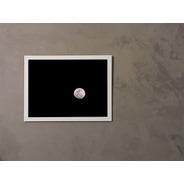Quadro Fotográfico Lua - 30 X 40 Cm - Moldura Branca