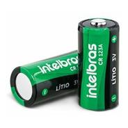 Bateria Não Recarregável De Lítio 3v Cr123a Intelbras
