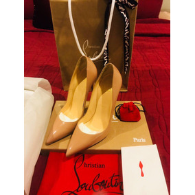 Zapatos Christian Louboutin Color Nude Semi Nuevos