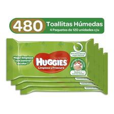 Toallitas Húmedas Huggies Active Fresh, 4 Paq X 120uds