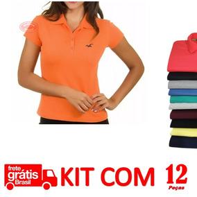 e428bd9990 Camisas Gola Polo Feminina Atacado Kit 12 Camisas Revenda