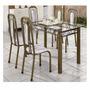 Mesa Com 6 Cadeiras Tampo Vidro/ Pedra