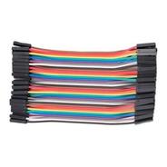 50 Unidades Cable Dupont Hembra A Hembra 10cm