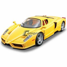 Miniatura Kit Para Montar Enzo Ferrari Amarelo Maisto 1/24
