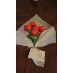 Ramo De Rosas De Papel De Origami-bodas De Papel- (6 Flores)