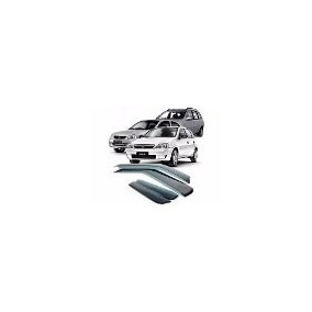 Calha De Chuva Em Abs P/ Corsa Hatch / Sedan Novo 4 Portas