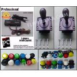 Kit P Montar Arcade 2 Comandos + 2 Controles + 20 Botões !
