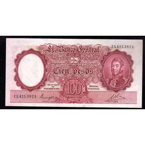 Billete Argentina 100 Pesos Moneda Nacional Bottero 2034