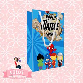 30 Sacolas Personalizadas Festa Heróis Baby
