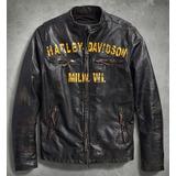 Harley Davidson Jaqueta Couro Forge Slim Fit Pronta Entrega