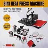 8 In1 Calor Digital Prensa Máquina Sublimación Para La