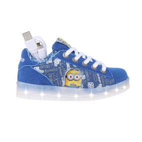 Zapatillas Addnice Moda Led Usb Minions Cordon Fr/bl