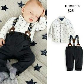 Ropa De Bebe Pantalon Camisa Y Tirantes 12-18 Meses