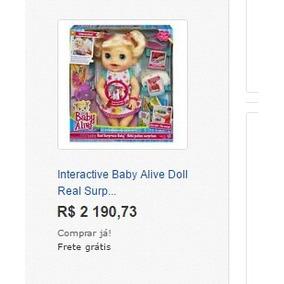 Boneca Baby Alive Comer E Brincar Loira (português)