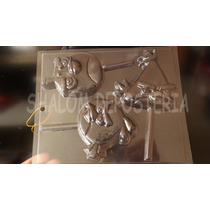 *molde Paletas De Chocolate De 3 Pajaros Estilo Angry Birds*