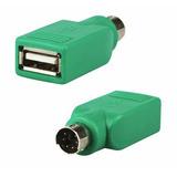 Ps2 Macho A Usb Hembra Adaptador, Conector, Convertidor.