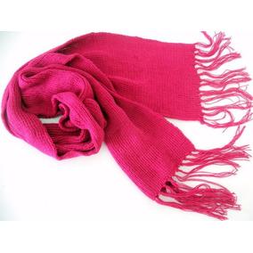 Cachecol De Lã Tricô Rosa Pink Adulto Unissex Modelo Grande