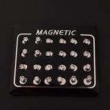 Oferta! Arete Iman 6mm Diamante Hombre Magnetico Imantado