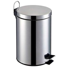 Lixeira De Aço Inox Redonda 3 Litros - Prata - Home&garden