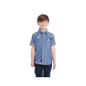 Camisa Grafito Boys Azul Pr-2589662