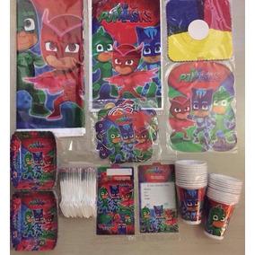 Kit Fiesta Piñata Infantil Heroes En Pijama - Pj Masks