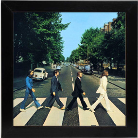 Lp The Beatles Abbey Road Quadro Retro Capa De Disco