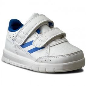 Tenis adidas Altasport Blanco/azul Bebé Ba9516 Originales