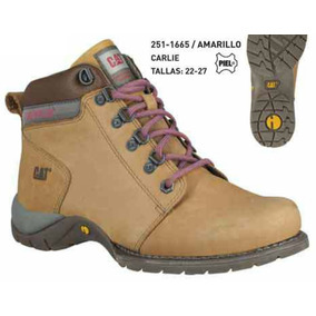 Zapato Cat Carlie Amarillo Dama Tallas 22-27mx