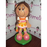 Boneca Laranjinha Fashion Em Eva 3d 23 Cm - Moranguinho