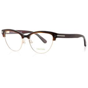 ae83ef7a12 Óculos Tom Ford Eyeglasses Ft5282 048 Brown 52mm Armacoes - Óculos ...