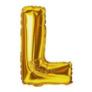 Balão Metalizado Letra 40cm - L