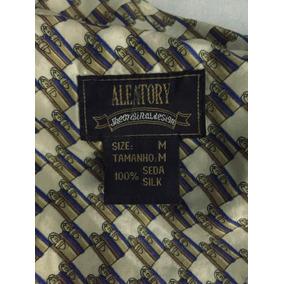Camisa De Seda Pura Masculina Vintage