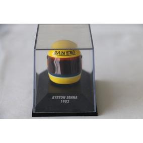 Capacete Miniatura Ayrton Senna 1982 - Escala 1/8