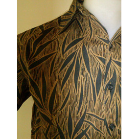 Camisa Havaiana Grife Caribbean Pronta Entrega Bambu C27
